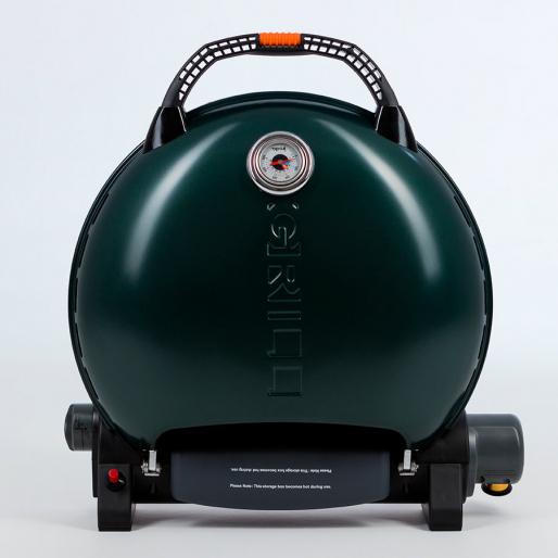 Газовый гриль O-GRILL  700T bicolor black-green + адаптер А